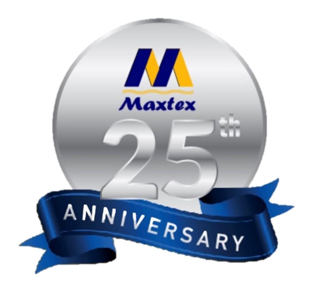 maxtex logo 25th year anniversary